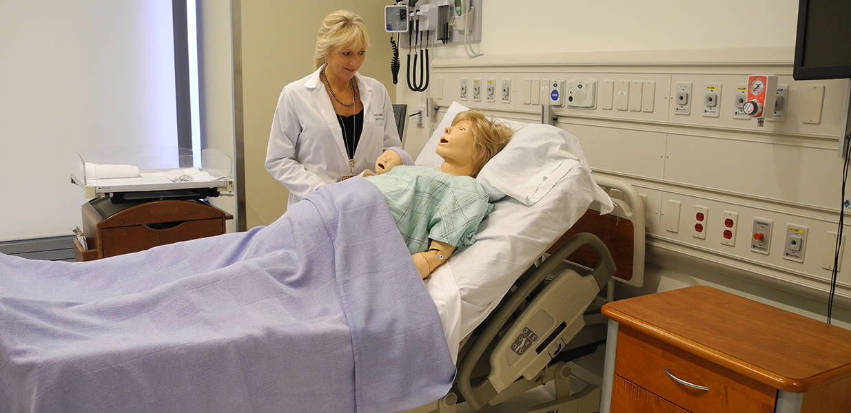 Birthing Simulator with Baby in the VCU Center for Human Simulation and Patient Safety